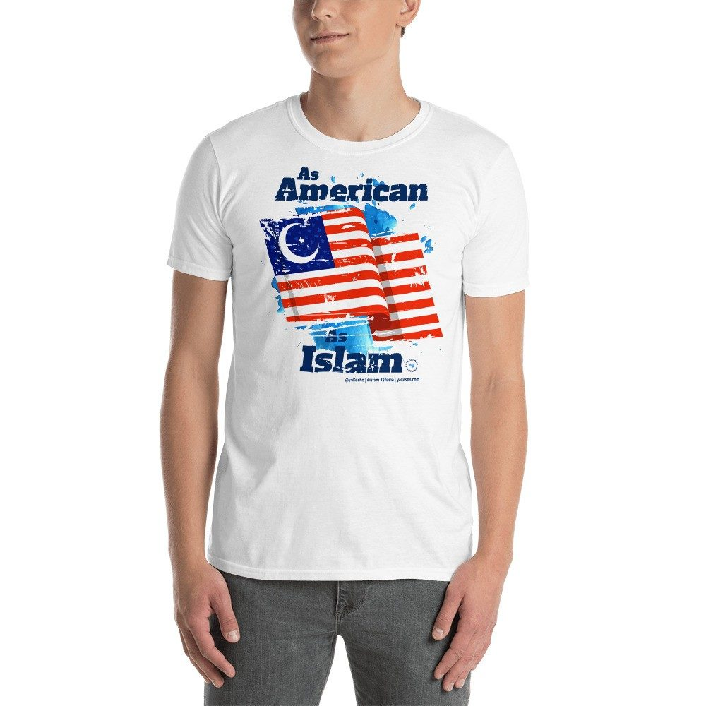 Graphic T-Shirt expressing: As American as Islam