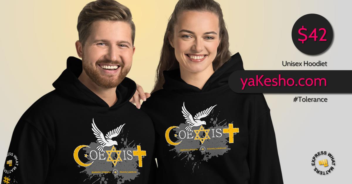 Coexist Unisex Hoodie Social Media