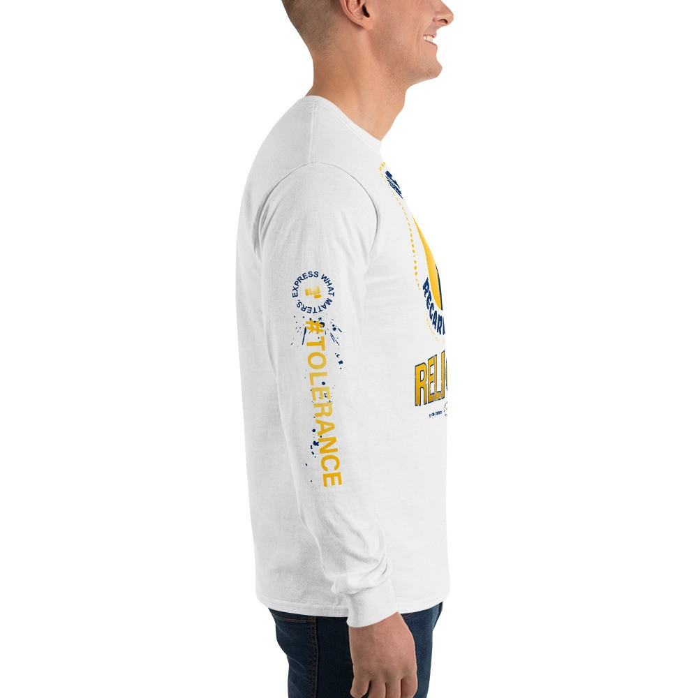 Graphic Long Sleeve T-Shirt Expressing: We are 1 Regardless of Religion