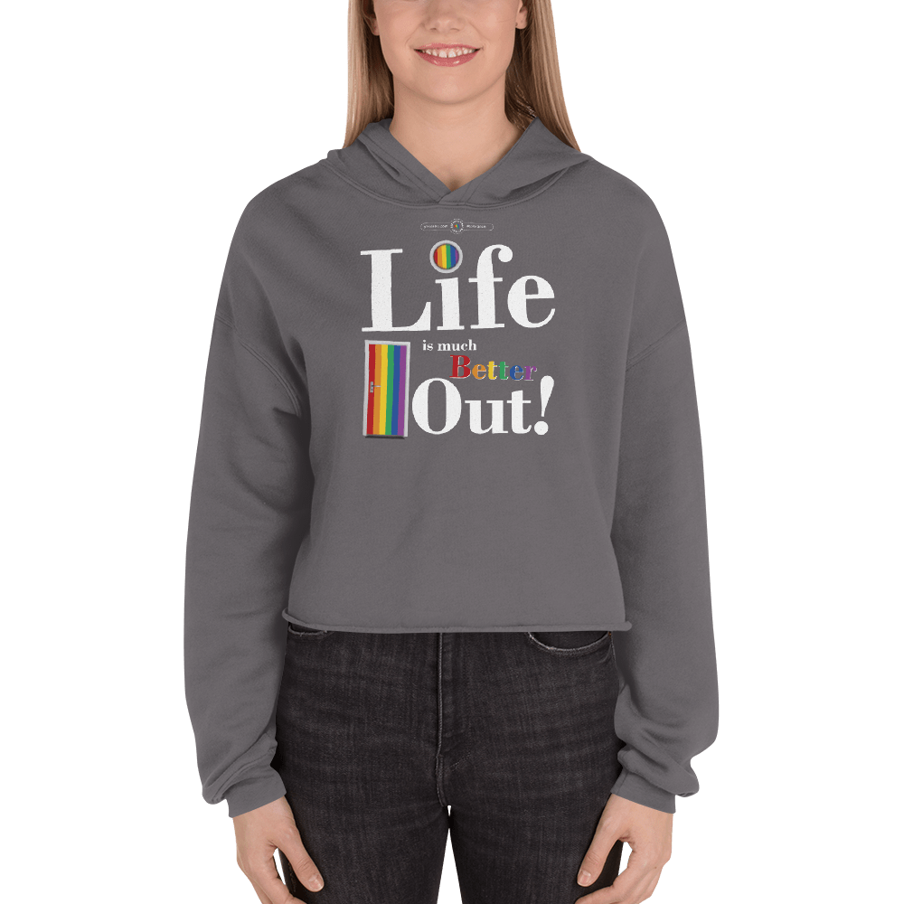Life is much Better Out! Print Tee Hoodie Storm