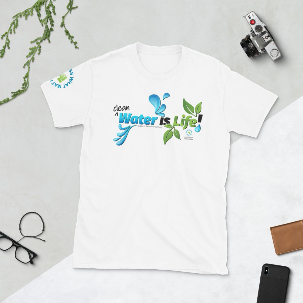 Clean Water is Life Graphic Short Sleeve Tee