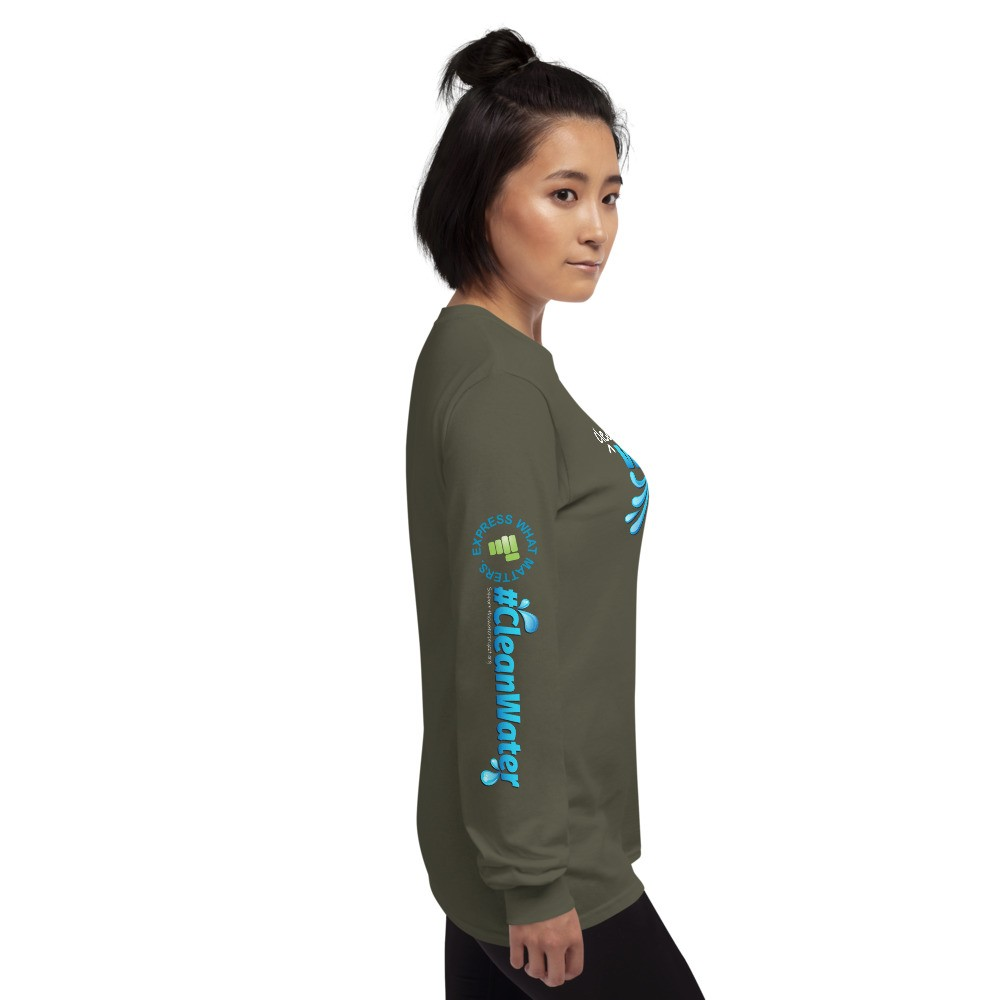 Clean Water is Life Graphic Long Sleeve Tee