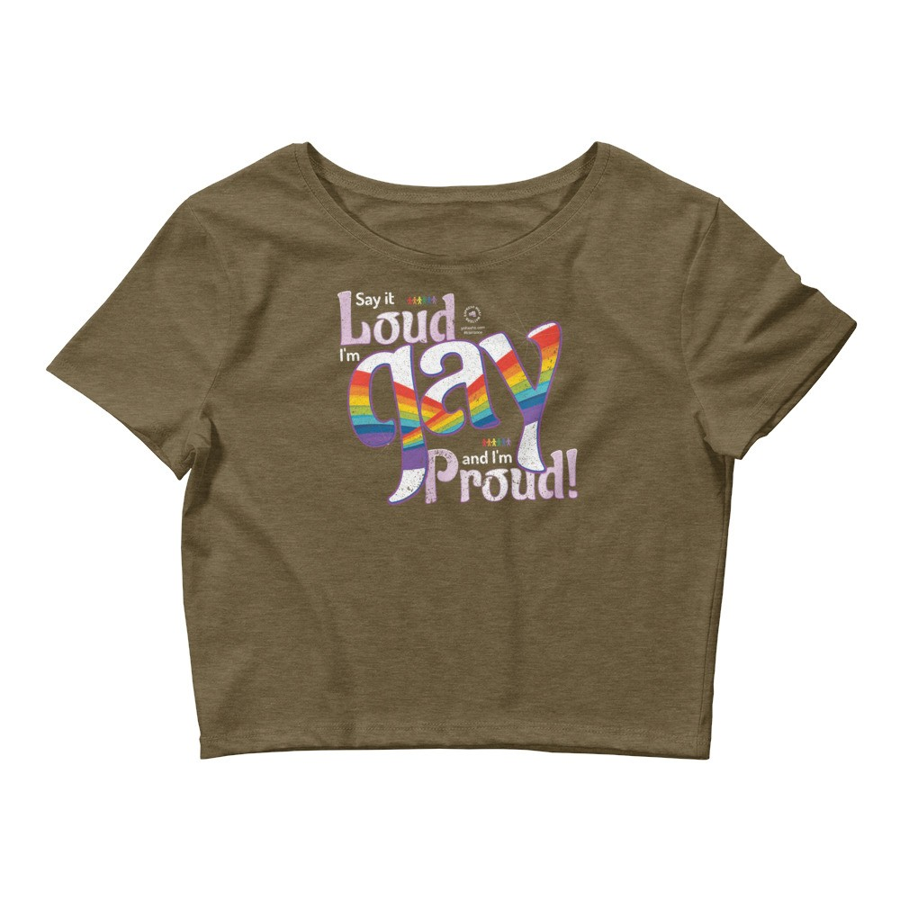 Say it Loud I'm Gay and I'm Proud Unisex Cropped T-Shirt