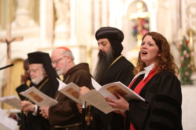 People Singing Choir