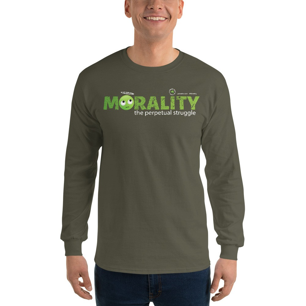 Morality the perpetual struggle Unisex Long Sleeve T-Shirt