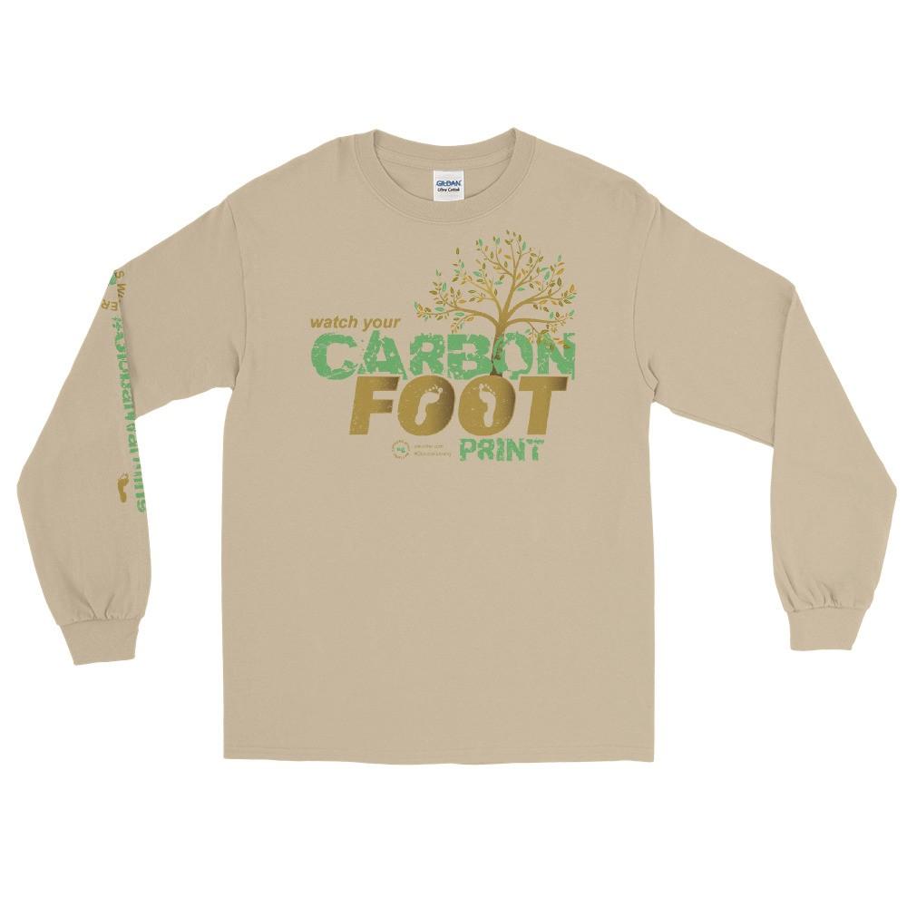 Watch Your Carbon Footprint Unisex Long Sleeve T-Shirt