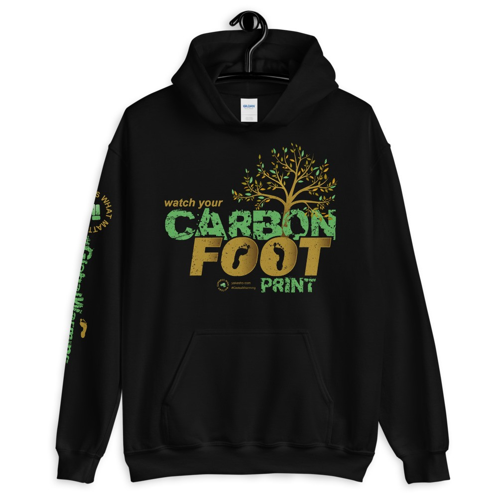 Watch Your Carbon Footprint Unisex Hoodie