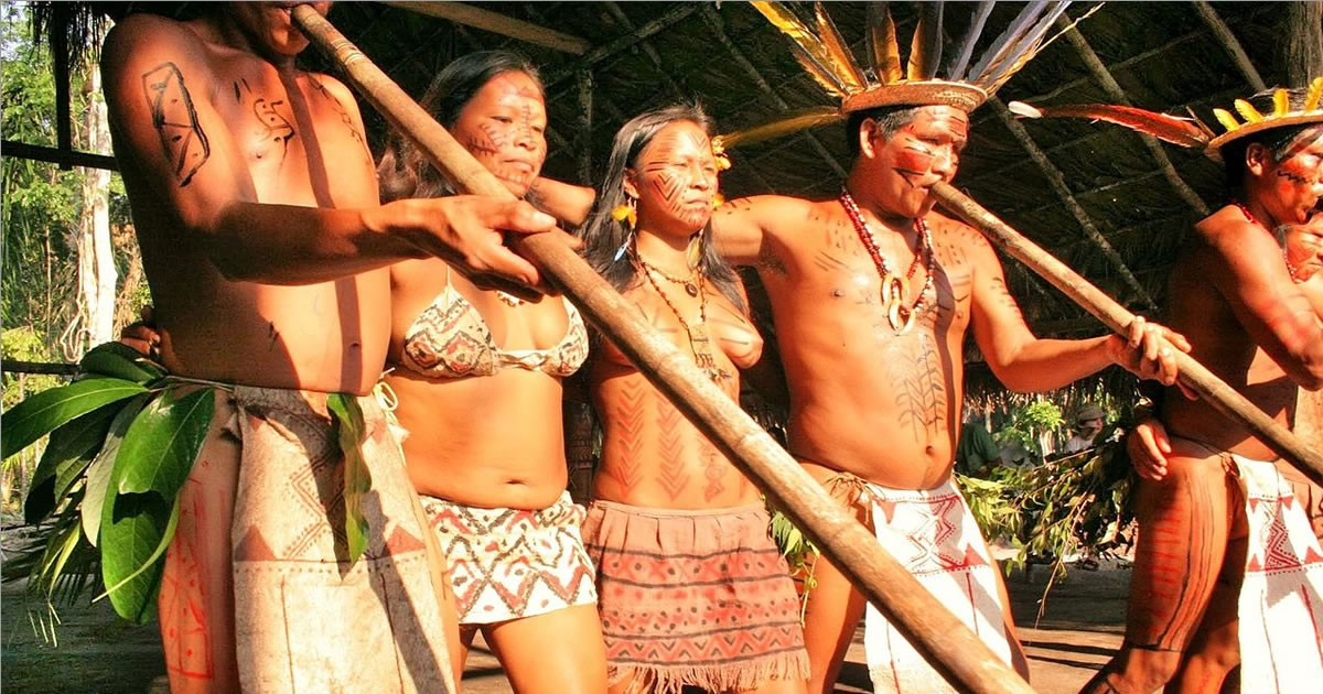 Native People Of Amazon Rainforest Featured