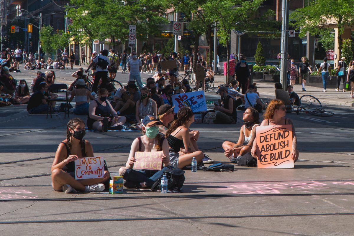 Black Lives Matter Sit-in. Reimagining public safety.