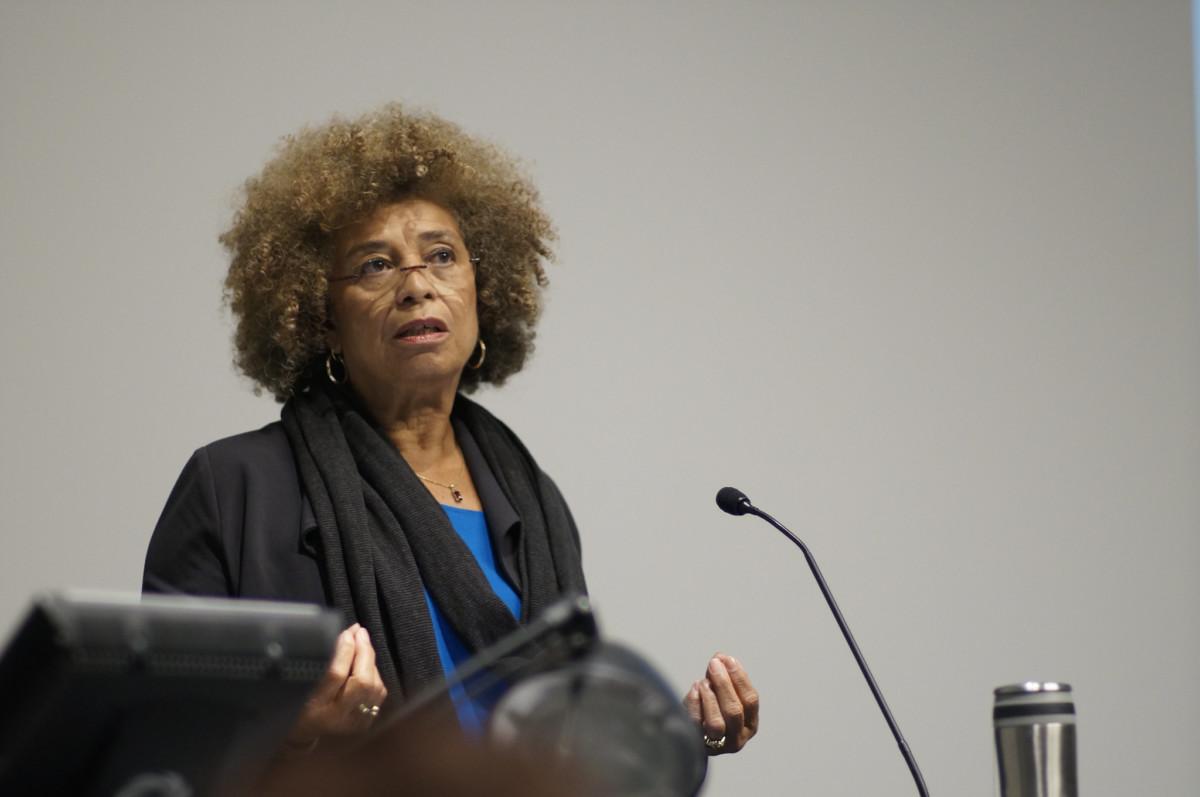 Image of Black feminist scholar and activist Angela Davis. Fighting anti-black racism